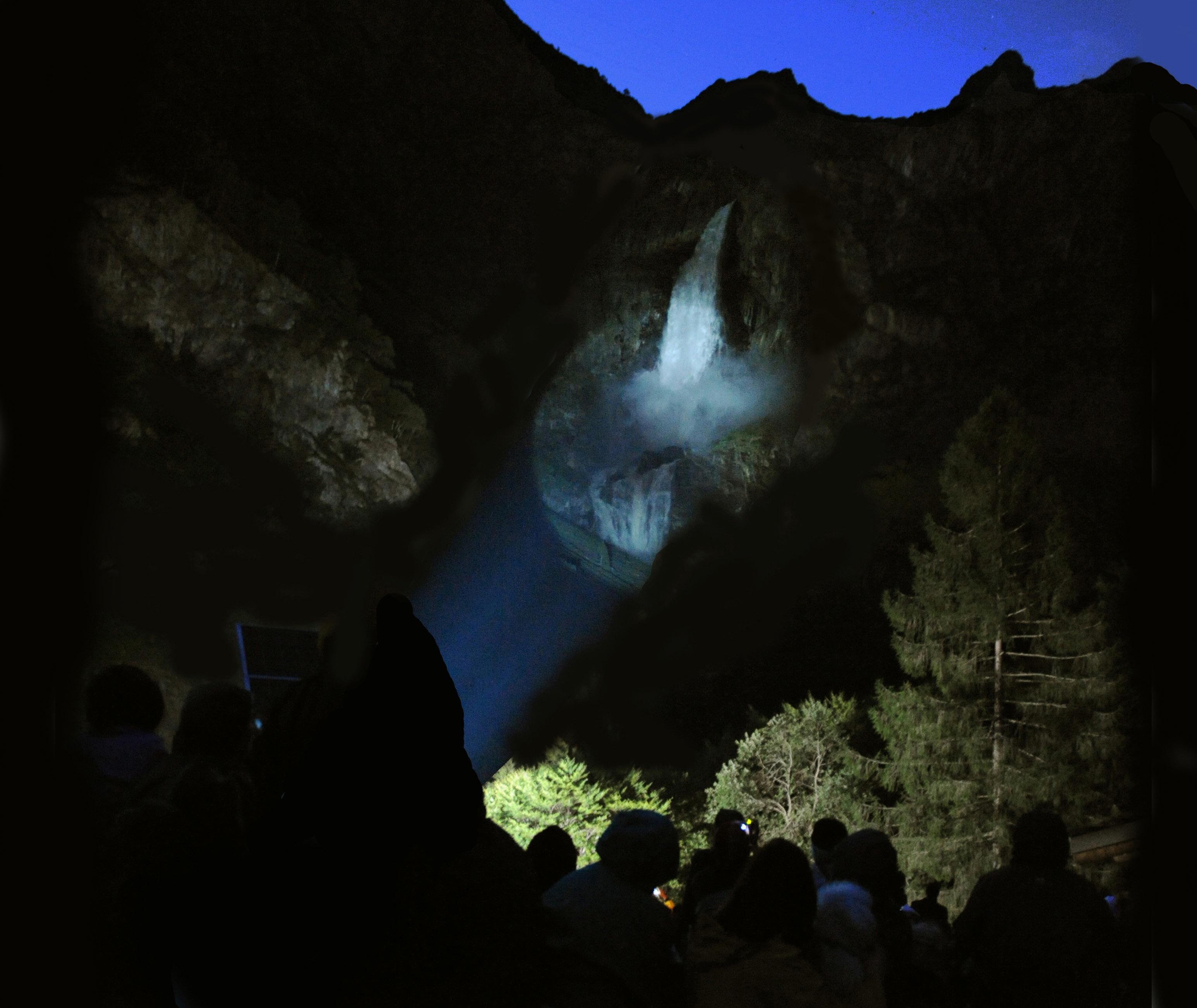 Parco Vivo 2011 entra nel vivo con le Cascate del Serio in notturna