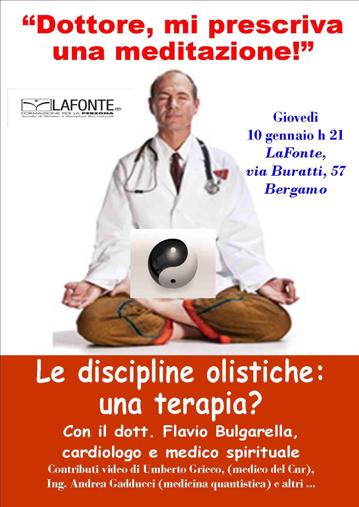 """""""Dottore, mi prescriva una meditazione"""" –  conferenza con il cardiologo bergamasco Flavio Burgarella"""