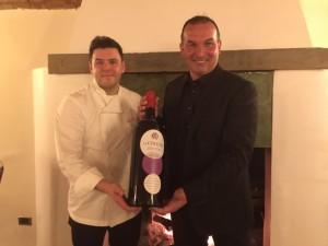 Luigi Invernici con lo chef del ristorante LoRo, Pier Antonio Rocchetti