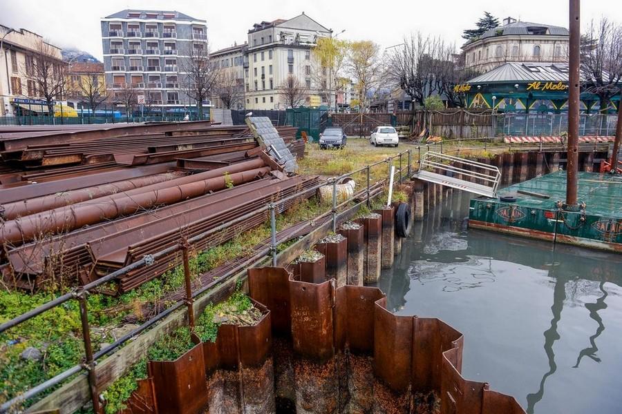 COME E' ORA - Como cantiere dell Paratie fermo (ph. Carlo Pozzoni)