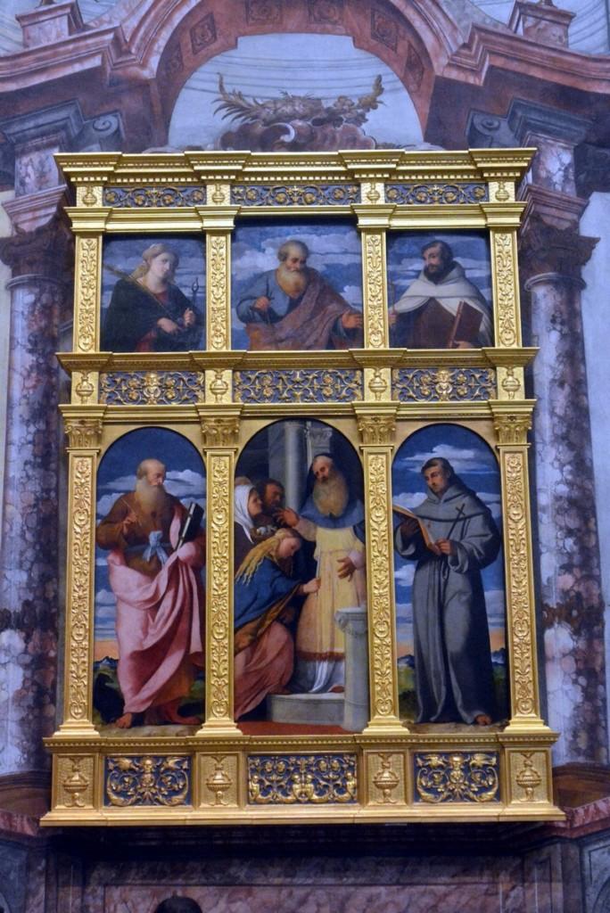 1) Polittico Presentazione della Vergine