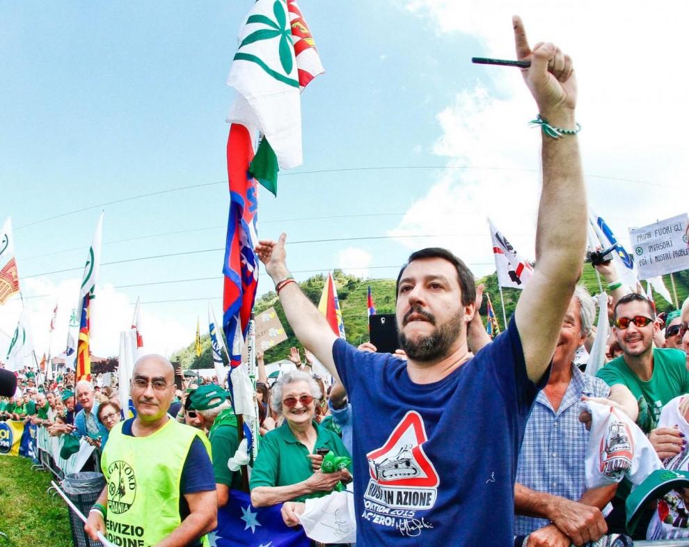 Pontida , Salvini: «Mai più schiavi di Berlusconi»