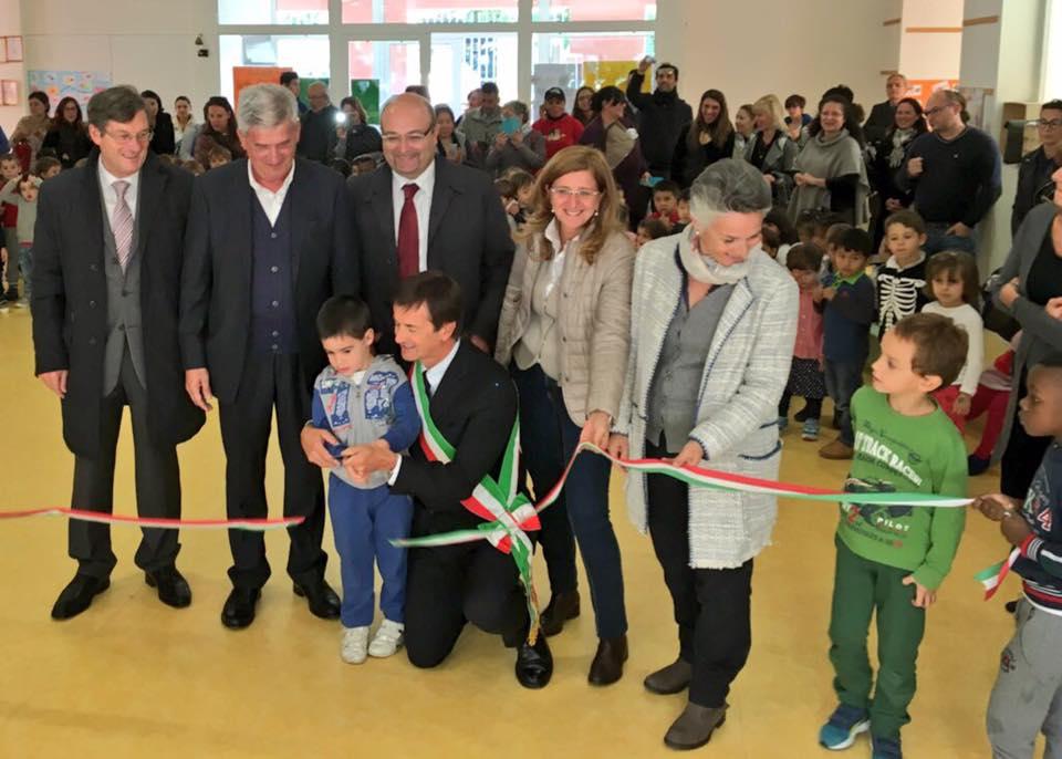 Inaugurata la scuola dell'infanzia Munari a Redona