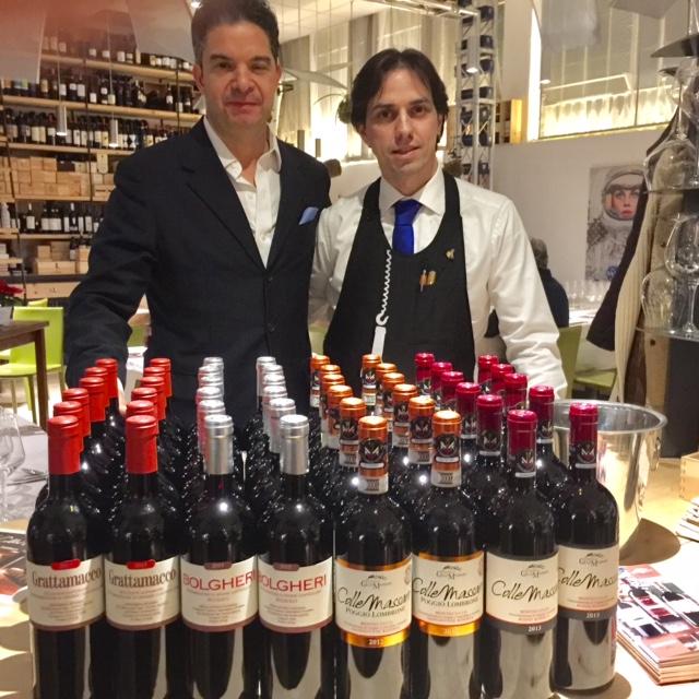 Al Carroponte di Bergamo omaggio ai vini toscani di Colle Massari