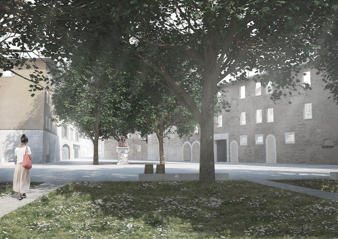 Il progetto di riqualificazione di piazza Carrara si presenta