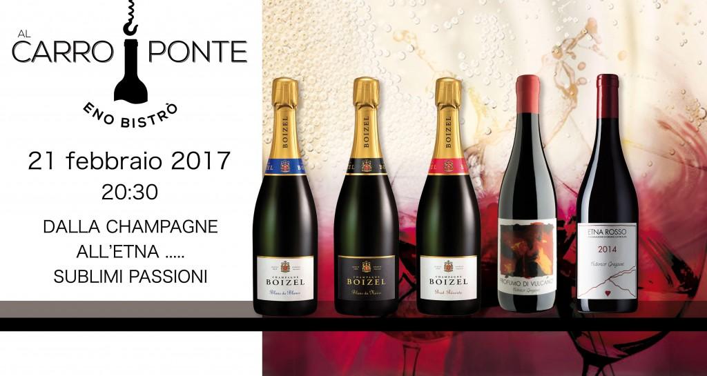 Champagne e profumo di Vulcano Al Carroponte
