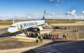 Ryanair taglierà il 20% dei voli per settembre e ottobre