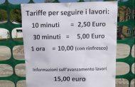 Per chi vuol guardare il cantiere tariffa da 10 euro