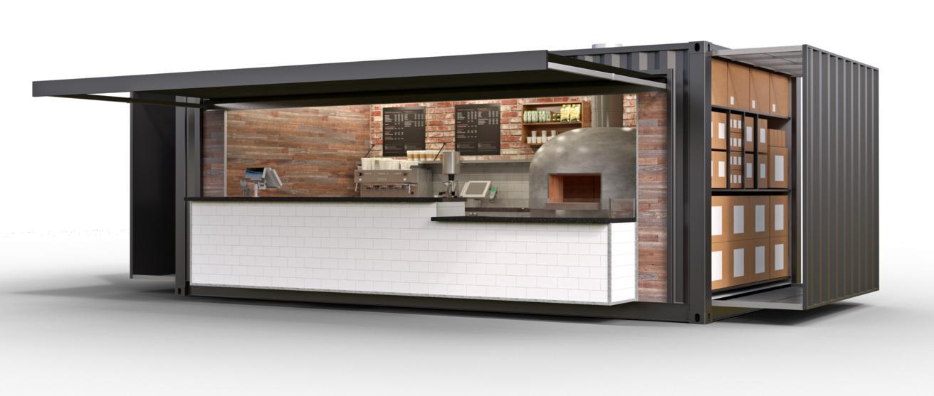 Vecchio container diventa una pizzeria mobile