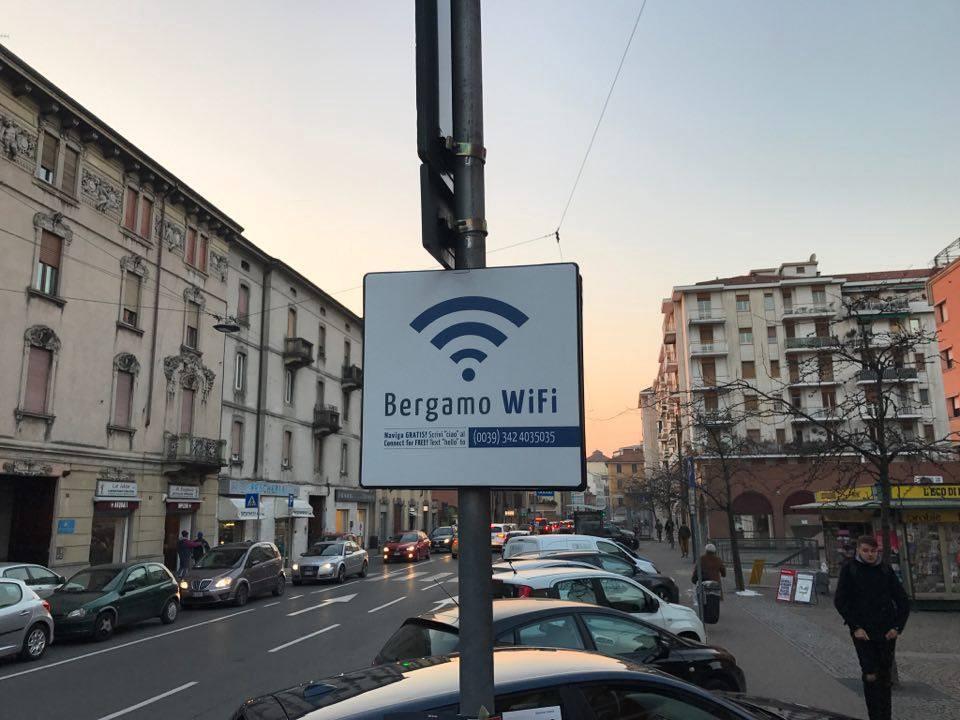 Salgono a 126 gli hotspot del BergamoWifi in città