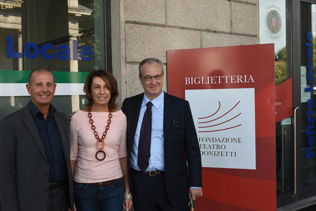 Aperta a Porta Nuova la nuova biglietteria del Teatro Donizetti
