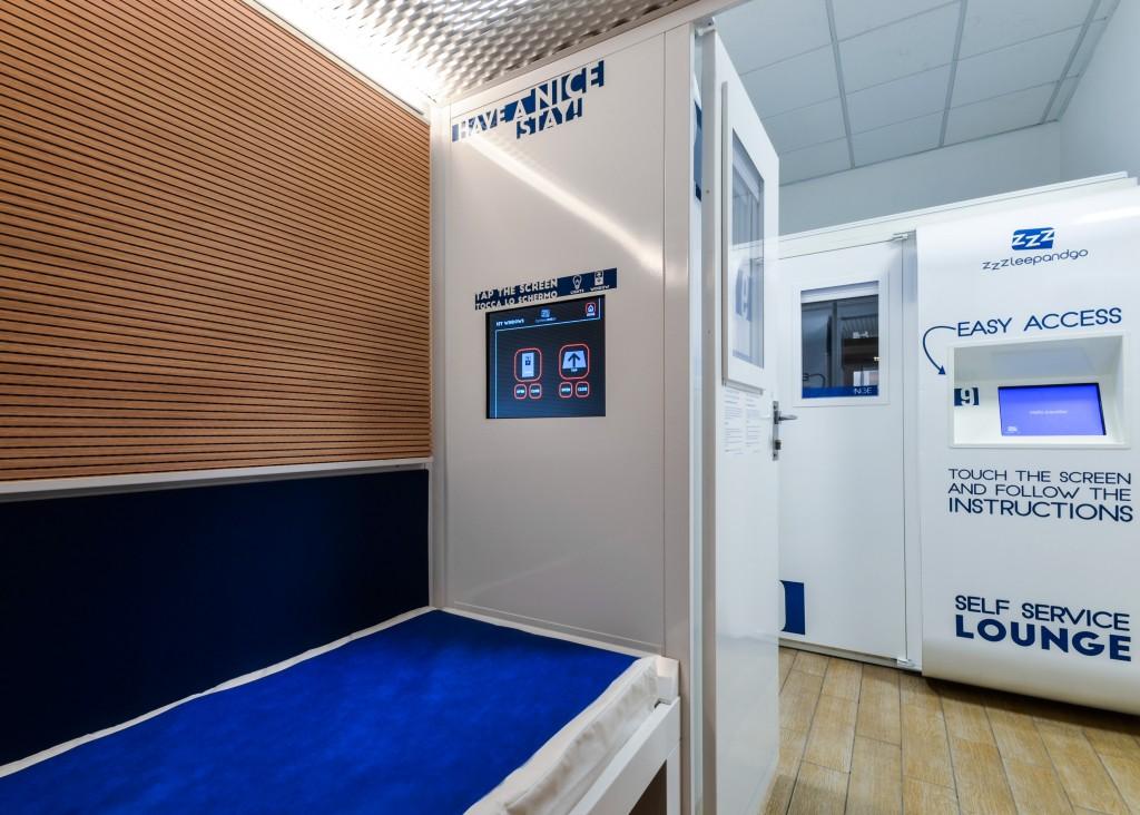 Hotel in formato capsula, nuove cabine all'aeroporto
