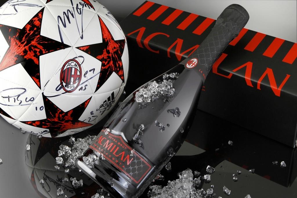 Anche a Bergamo i tifosi del Milan bevono Franciacorta