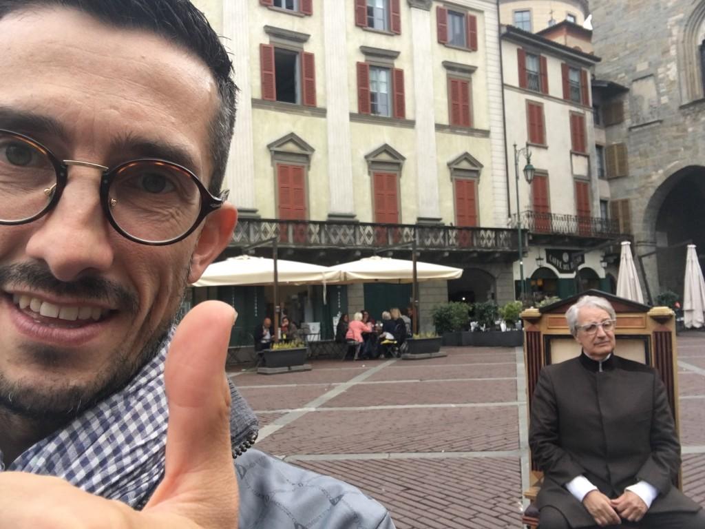 Bergamo a Striscia la Notizia…per il caffè di Maurizio Valli