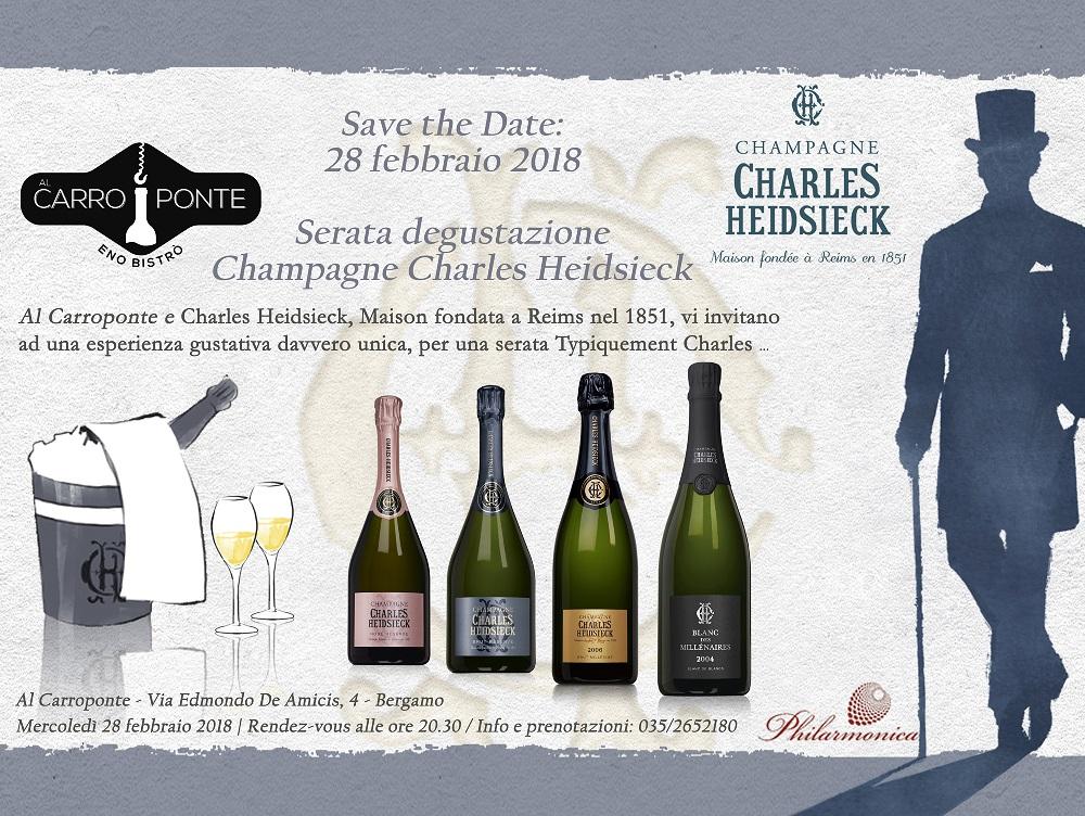 Al Carroponte con gli Champagnes di Charles Heidsieck