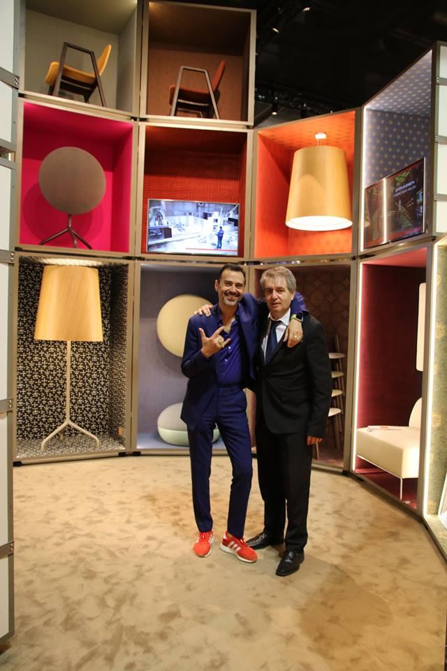 Fabio Novembre al Salone del Mobile con Tino Sana