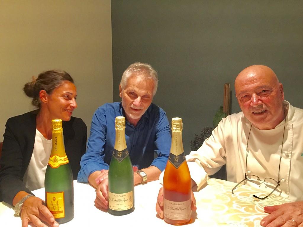 """Cena di fine estate """"Da Bruno La Caprese"""" – Sorprende lo Champagne Rosé di Boutillez Vignon"""
