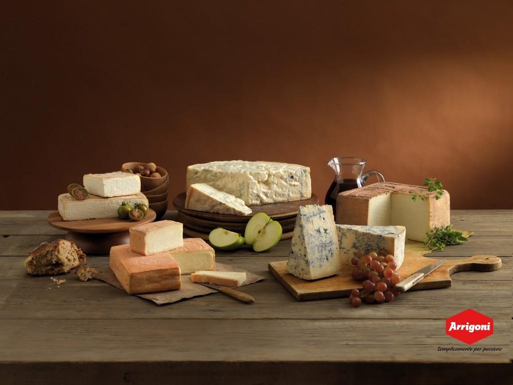 A cena con i pluripremiati formaggi di Arrigoni Battista da Pagazzano