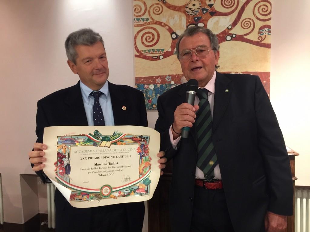 Al Taleggio Dop di Massimo Taddei il Premio dell'Accademia Italiana della Cucina