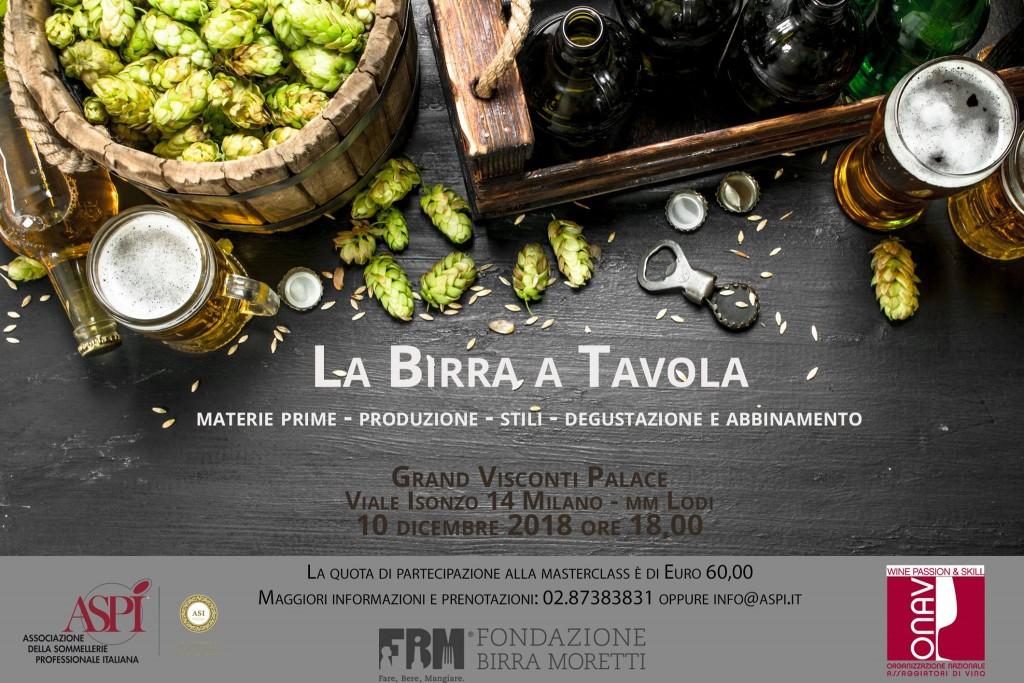 Degustare, servire, abbinare: viaggio nel mondo della birra con ASPI e Fondazione Birra Moretti