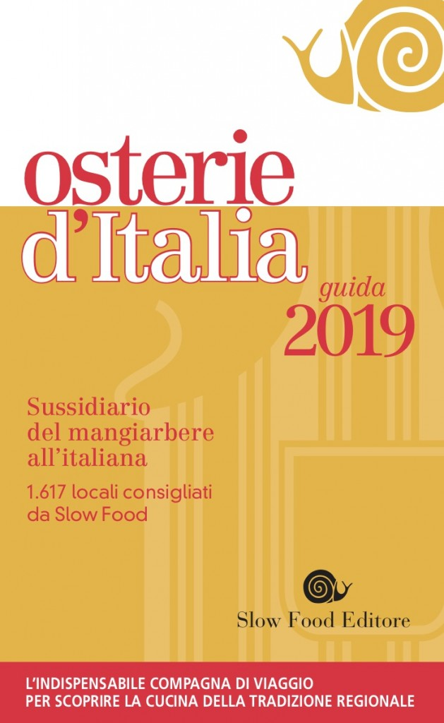 Osterie d'Italia 2019, sabato la presentazione della nuova Guida
