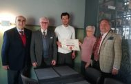 Certificato di merito allo chef Pesenti del ristorante La Gare di Caravaggio