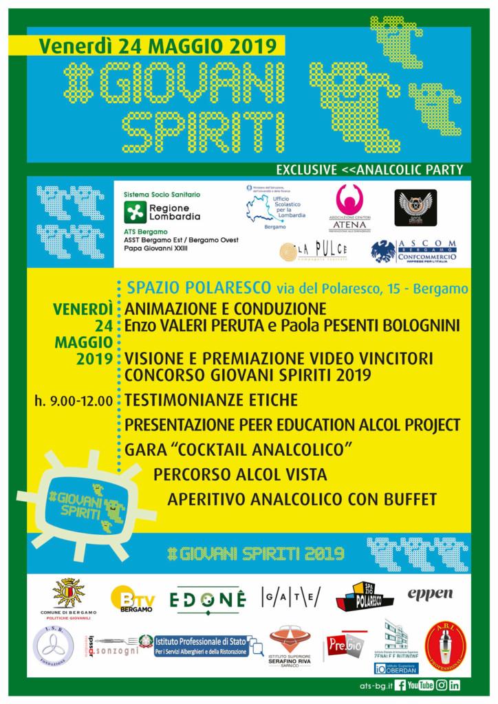 Venerdì 24/05 evento conclusivo di Giovani Spiriti 2019