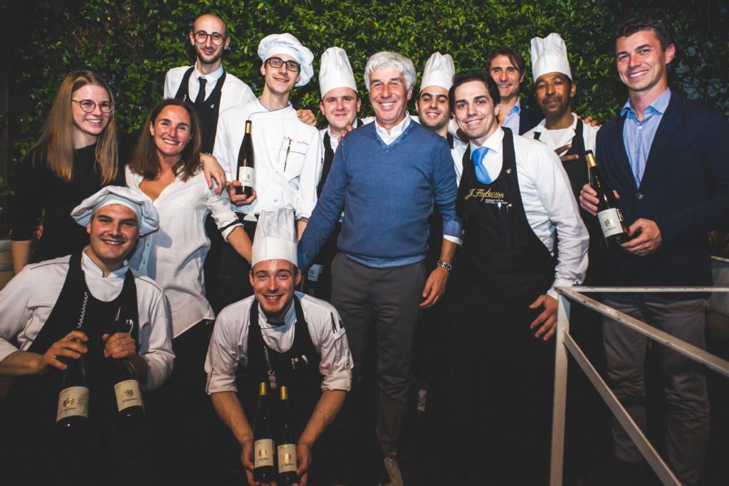 Mister Gasperini festeggia al Carroponte con i vini di Hofstatter