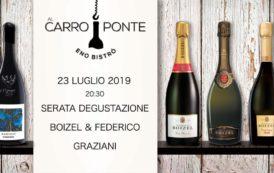 Champagne e vini siciliani martedì 23 luglio Al Carroponte