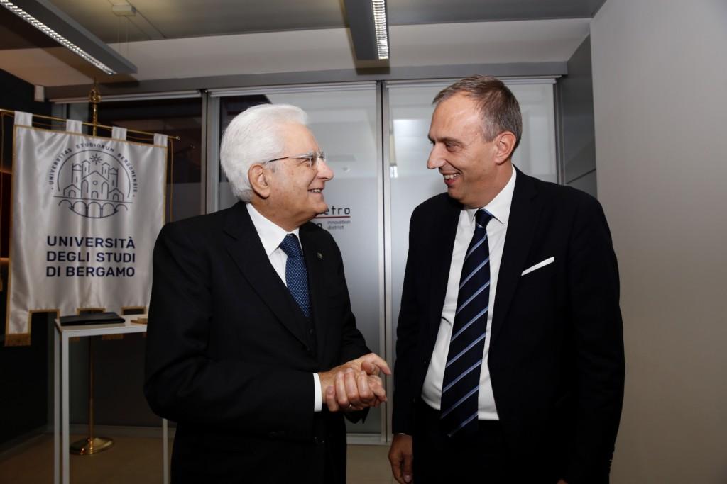 L'Unibg incontra il Presidente della Repubblica al Kilometro Rosso
