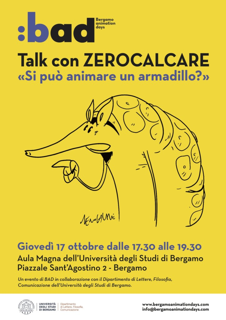 Zerocalcare a Bergamo ospite di BAD – Bergamo Animation Days