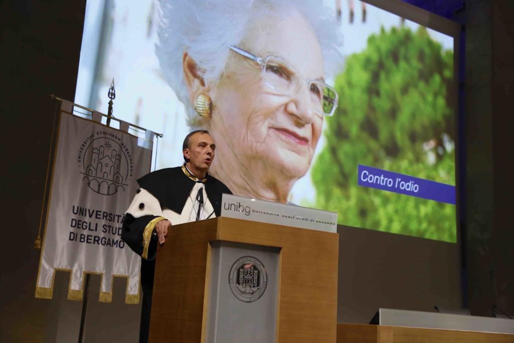 Dottorato ad honorem a Liliana Segre dall'Università di Bergamo
