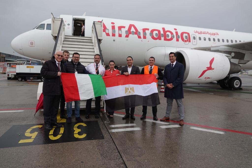 Inaugurato il volo Air Arabia tra Bergamo e Il Cairo