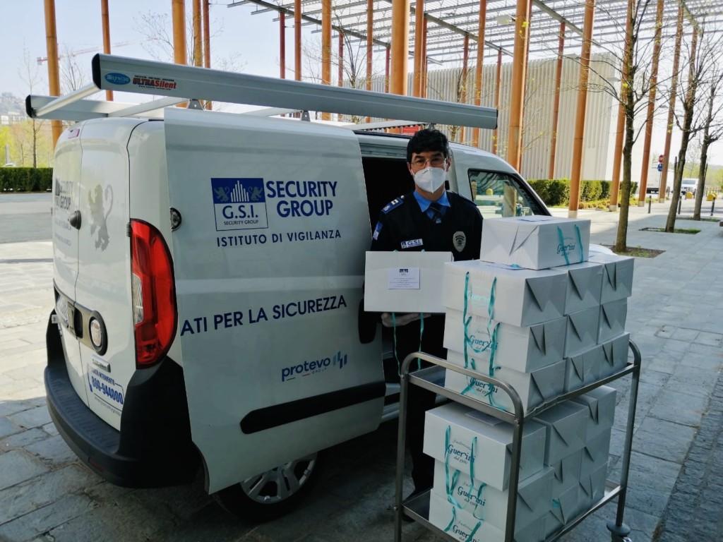 GSI Security Group dona 300 colombe agli ospedali bergamaschi
