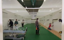 In 10 giorni è pronto l'ospedale alla Fiera di Bergamo