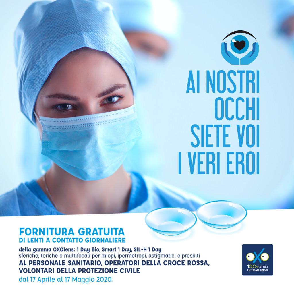 Lenti a contatto gratis per il personale medico-infermieristico