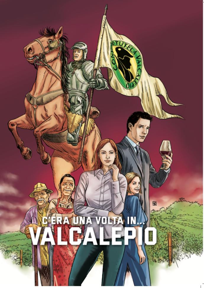 Vino Valcalepio, secoli di storia in un libro a fumetti