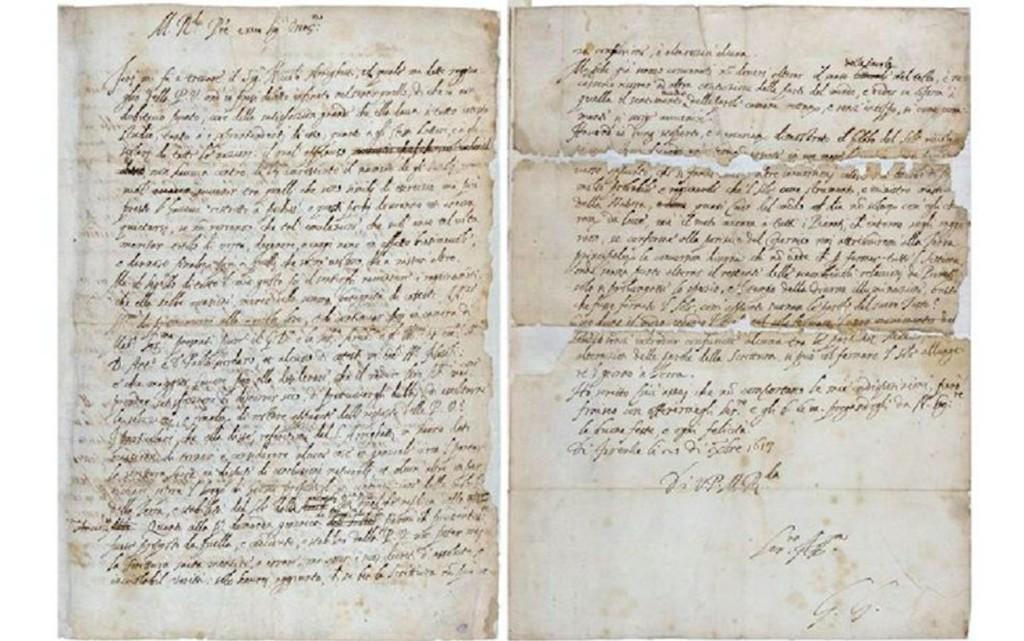 Ritrovamento della lettera che condanno' Galileo