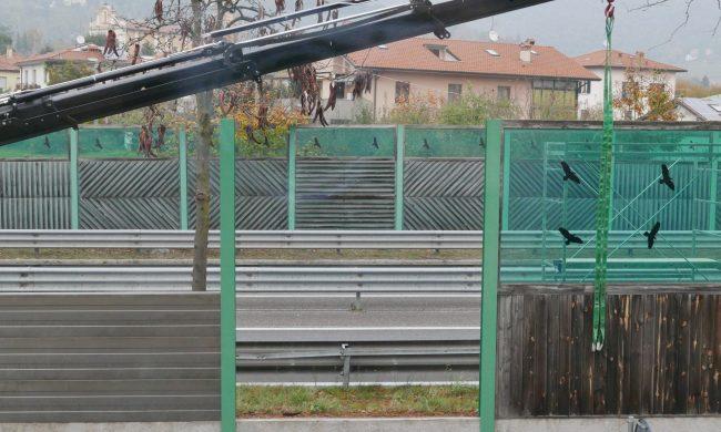 Circonvallazione a Valtesse, sostituzione delle barriere antirumore