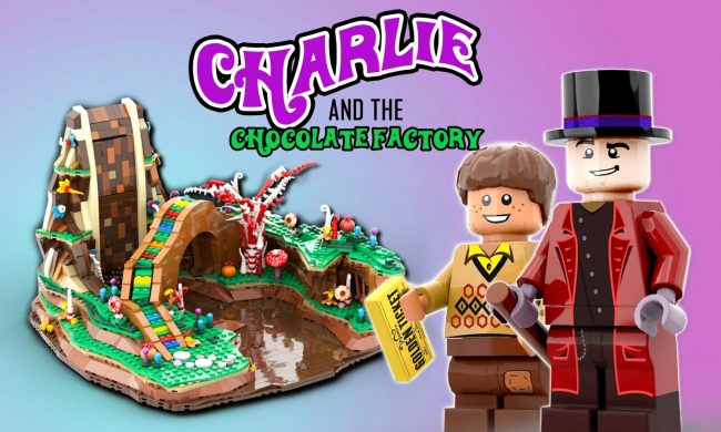 La fabbrica bergamasca di cioccolato in Lego