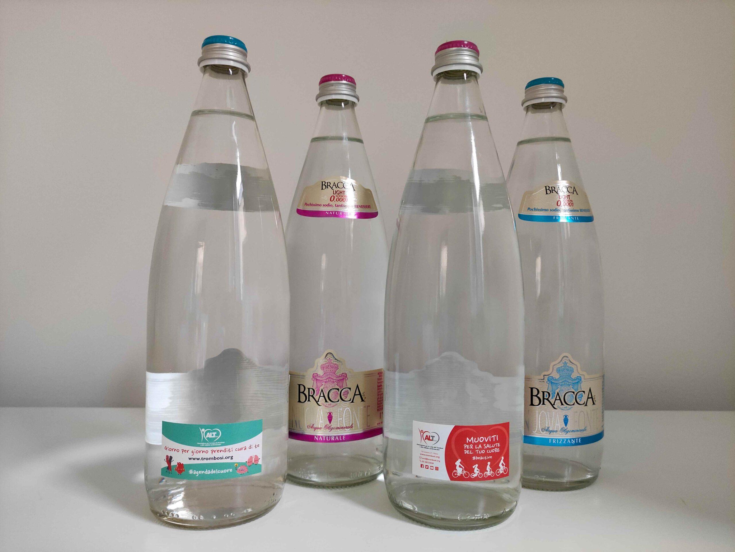 Salute, cultura e ambiente: messaggi positivi sulle bottiglie di Bracca acque minerali