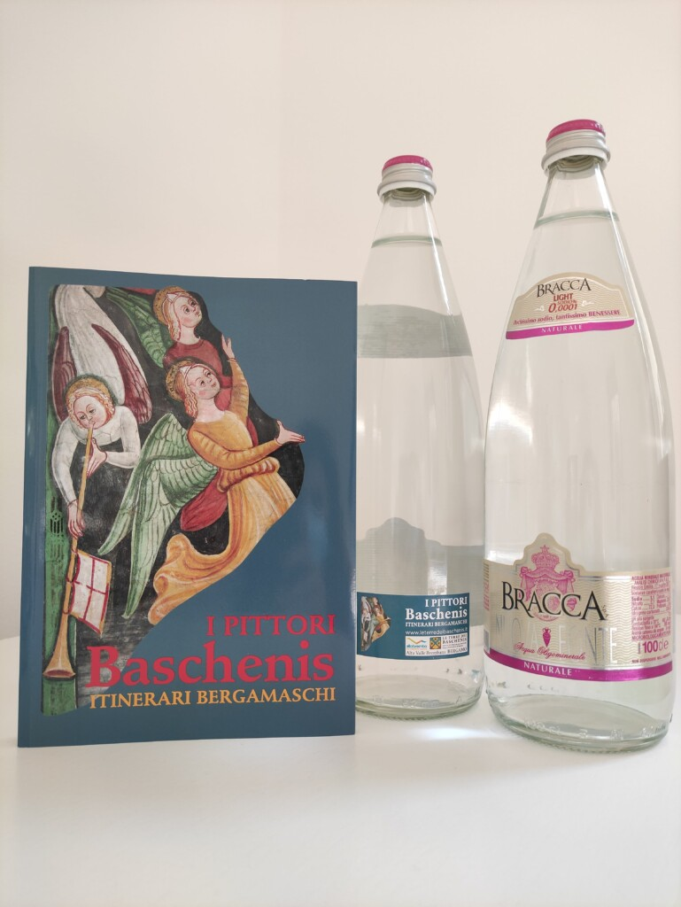 Baschenis sulle bottiglie  di Bracca Acque Minerali